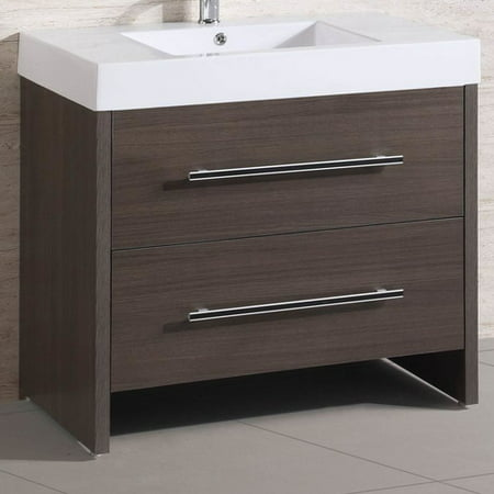 Belvedere Bath 36  Single Modern Bathroom Vanity Set