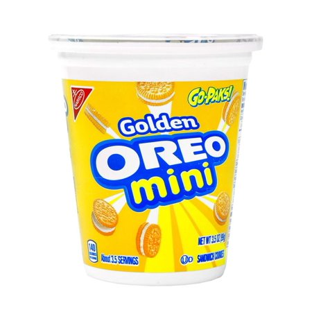 Personalized Oreo Cookies - Product Of Nabisco Go-Paks, Golden Oreo Mini, Count 1 - Cookie & Cracker / Grab Varieties & Flavors