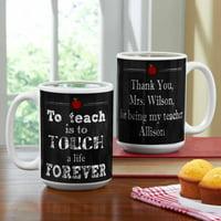 Personalized Teachers Touch Lives Coffee Mug, 15 oz