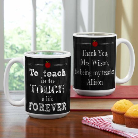 Personalized Teachers Touch Lives Coffee Mug, 15 oz