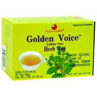 Health King Golden Voice Tea, Caffeine Free, 20 Ct
