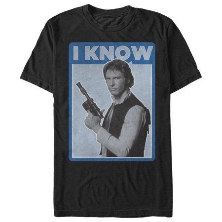 Star Wars Men's Han Solo Quote I Know T-Shirt Santana Solo T-shirt