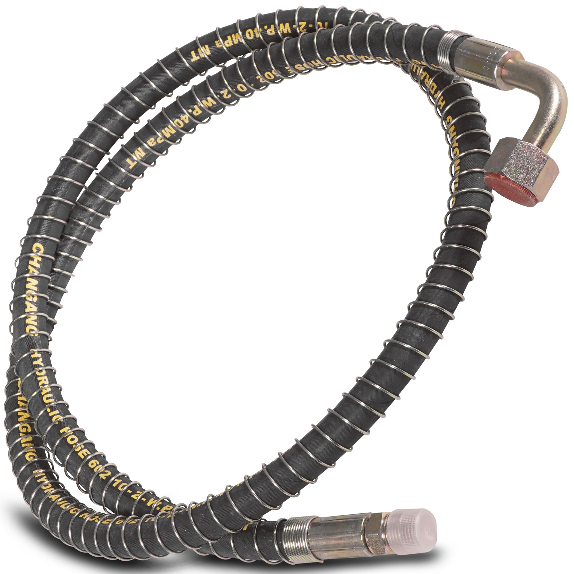 """Titan 74"""" Long Hydraulic Bypass Hose For LW-7A & LW-6A Backhoe Control Valves"""
