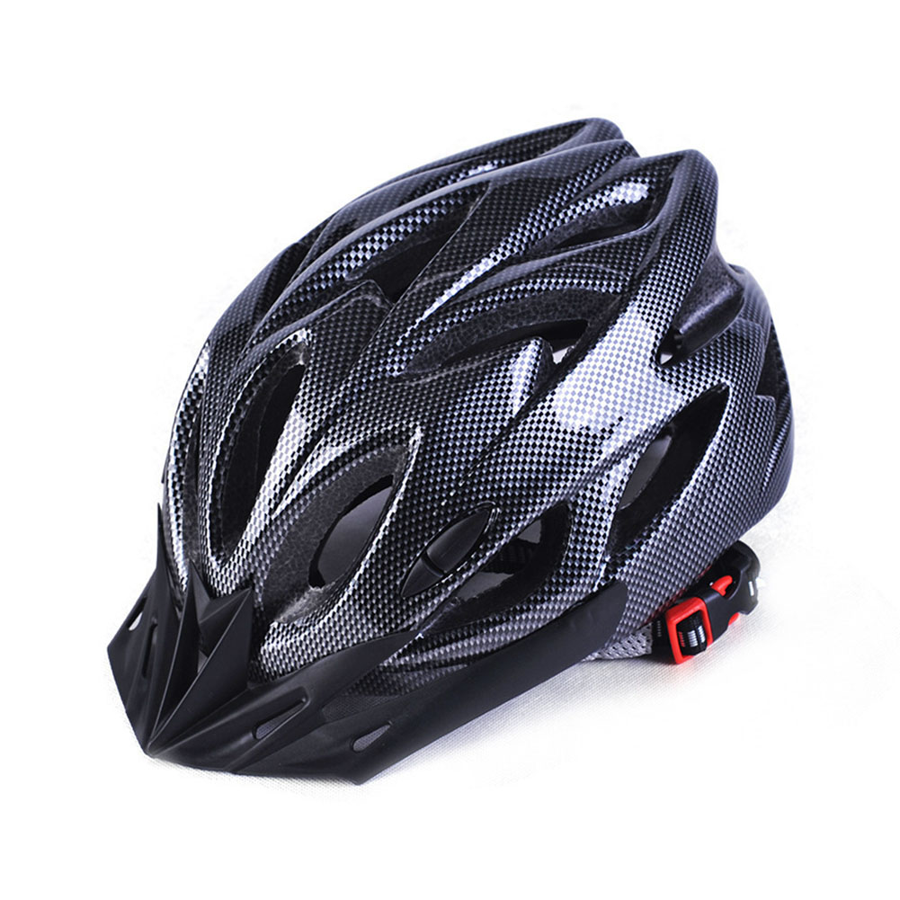 Ultralight Bicycle Helmet Breathable Cycling Safety Helmet for Men Women Color:Black and white