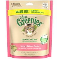 FELINE GREENIES Dental Natural Cat Treats Savory Salmon Flavor (Various Sizes)