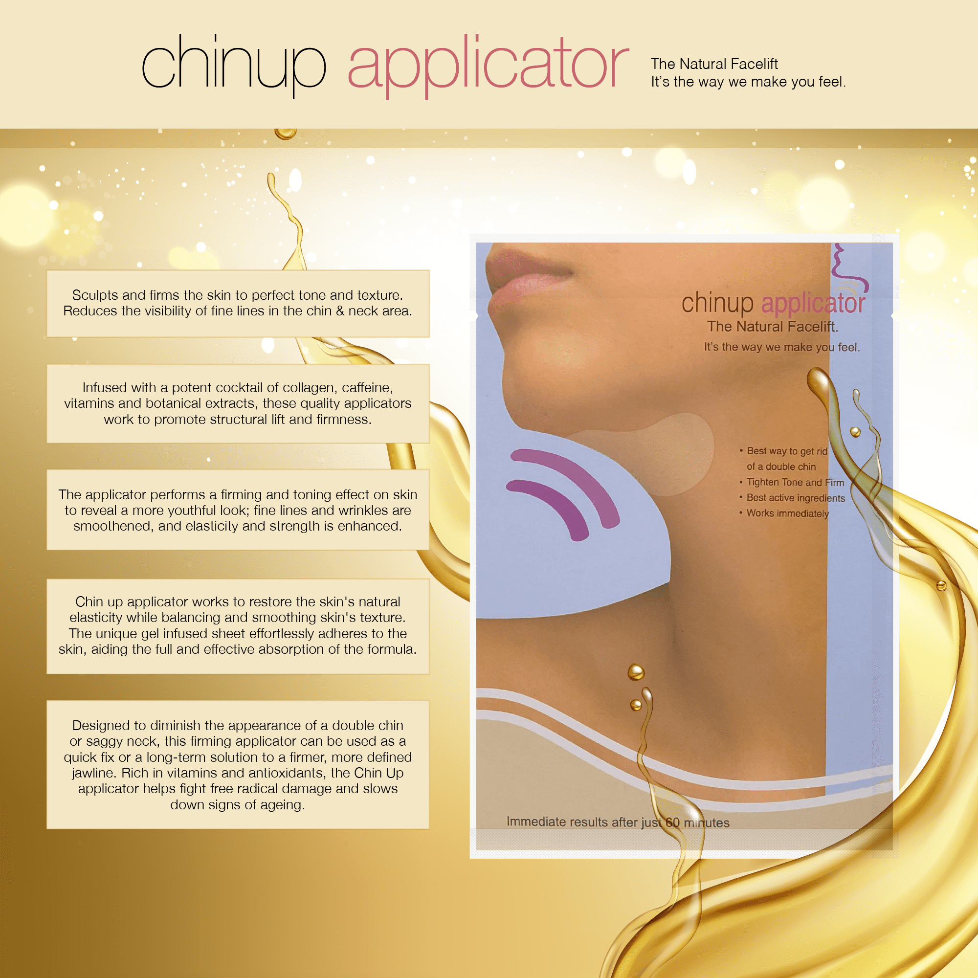 Double Chin reduction, Chin up Applicator, Face Slim, Shape