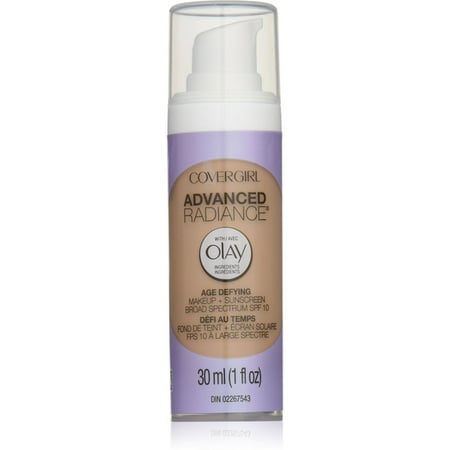 CoverGirl Advanced Radiance Age-Defying Makeup, Buff Beige [125], 1 oz (Pack of