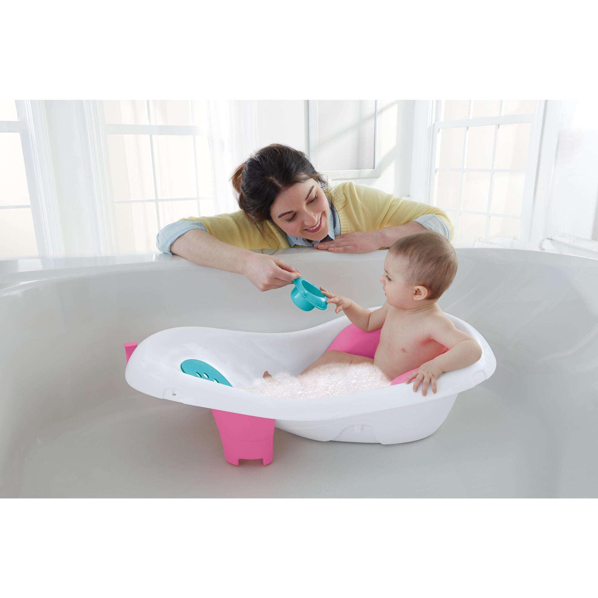 Fisher-Price 4-in-1 Sling \'n Seat Tub, Pink - Walmart.com