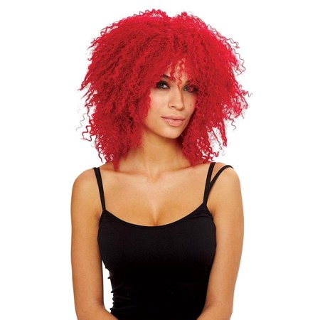 Coolness Women's Costume Wig - Neon Red](Red Halloween Costume Wig)