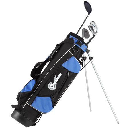 Confidence Junior Golf Club Set w/Stand Bag for kids Ages 8-12 (Best Vintage Golf Clubs)