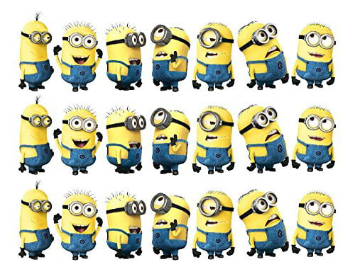 Astounding Despicable Me Minion Dave Bob Carl Jerry Mark Edible Cake Topper Personalised Birthday Cards Cominlily Jamesorg