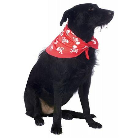 Chien Bandana Pet Costume Crâne et os croisés (Rouge) - Small / Medium