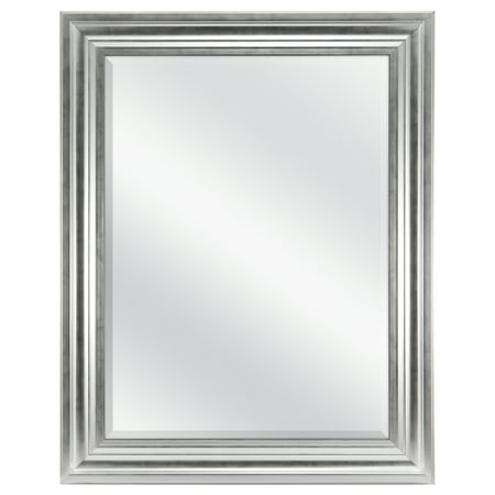 "Mainstays Beveled Wall Mirror, 23"" x 29"", Silver Finish"