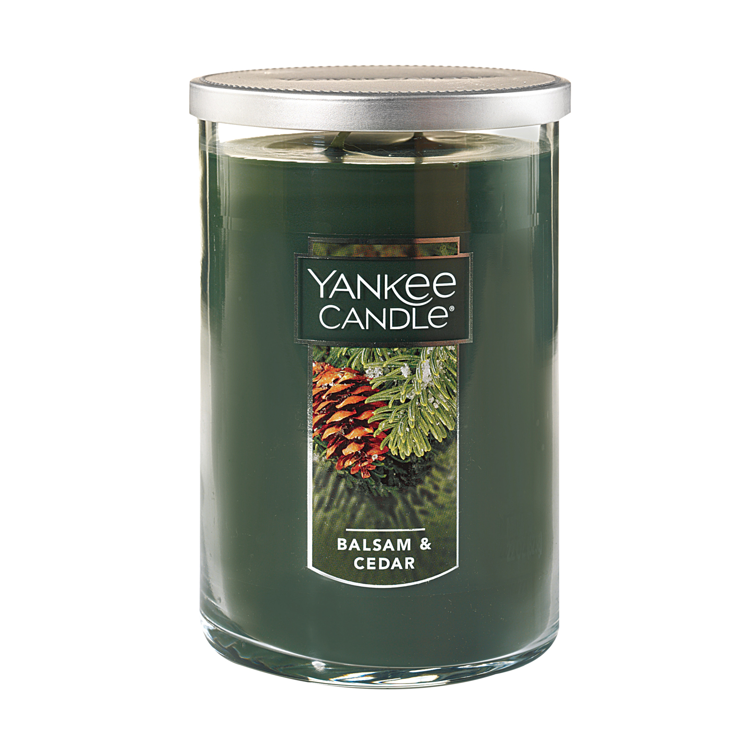 Yankee Candle Large 2-Wick Tumbler Scented Candle, Balsam & Cedar