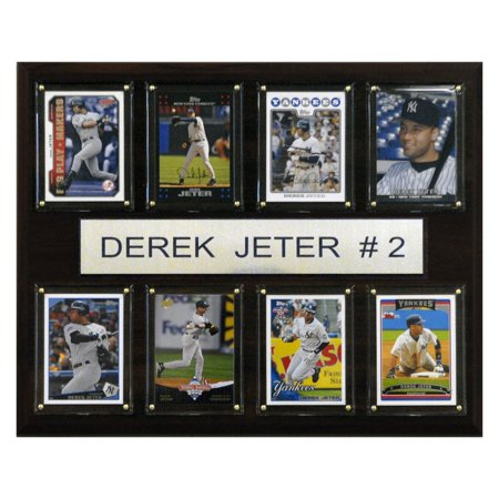 C&I Collectables MLB 12x15 Derek Jeter New York Yankees 8-Card Plaque Baseball Hall Of Fame Plaque