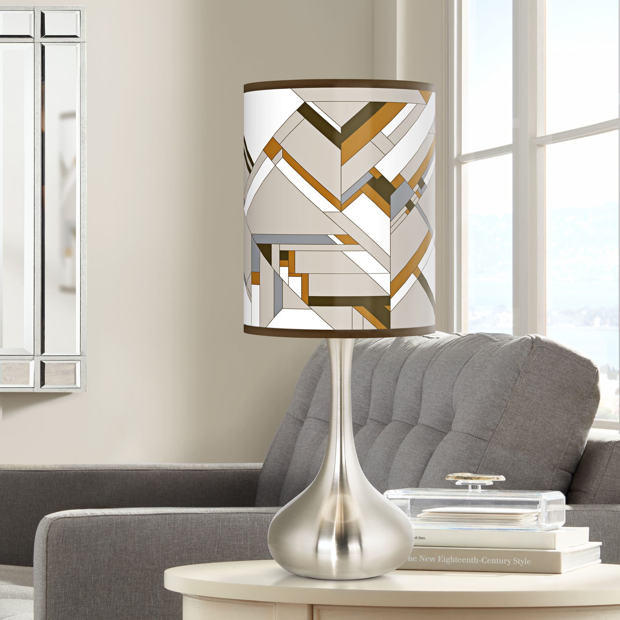 Giclee Glow Craftsman Mosaic Giclee Droplet Table Lamp
