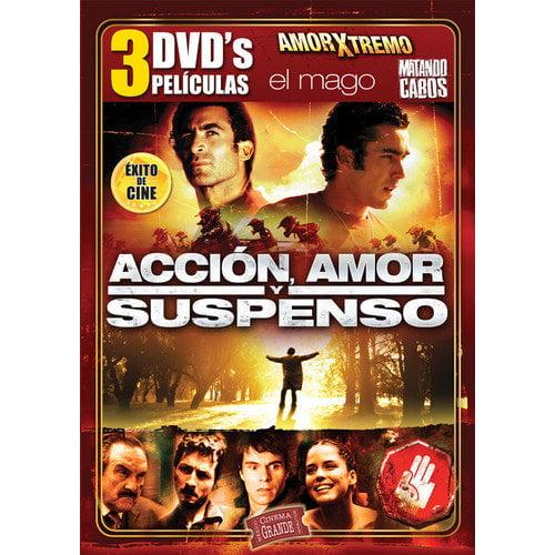 Accion, Amor Y Suspenso (Spanish) (3 Peliculas) by