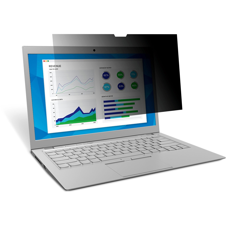 "3M, MMMPF125W9B, Privacy Filter for 12.5"" Widescreen Laptop (PF125W9B), Black,Matte,Glossy"