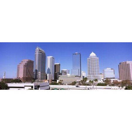 Skyscraper in a city Tampa Hillsborough County Florida USA Canvas Art - Panoramic Images (18 x 7) - Party City In Tampa Florida