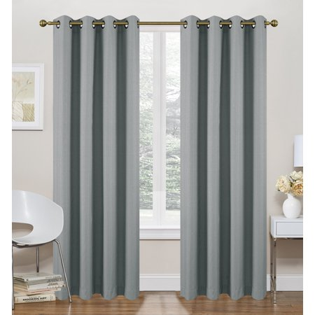 Ruthy S Textile Grey Thermal Lined Curtains 2 X 52 X 84