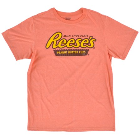 Reeses Peanut Butter Pajama Sleepwear Tee Shirt Top Mens PJ Loungewear Orange