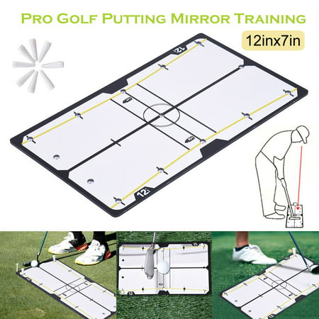 Golf Majors Putting Mirror Training Eyeline Alignment Swing Trainer Aid Golf Swing Mirror