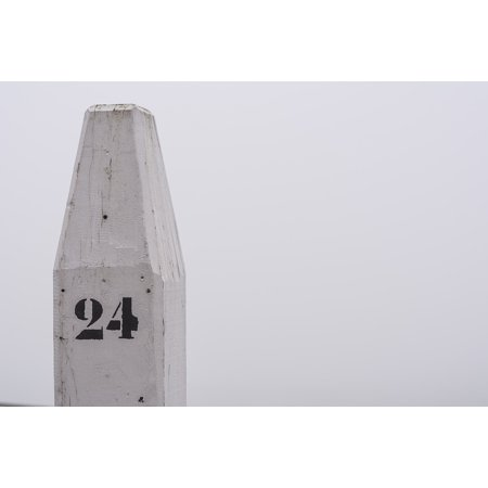 Canvas Print Meerpaal Pole Number 24 Quay White Mooring Boat Stretched Canvas 10 x 14 24 Oz Cotton Canvas Boat