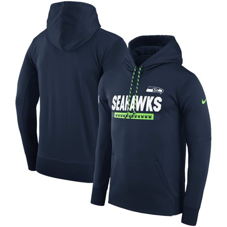 Seattle Seahawks Nike Men's Sideline ThermaFit Performance PO Hoodie - (Nike Stores)