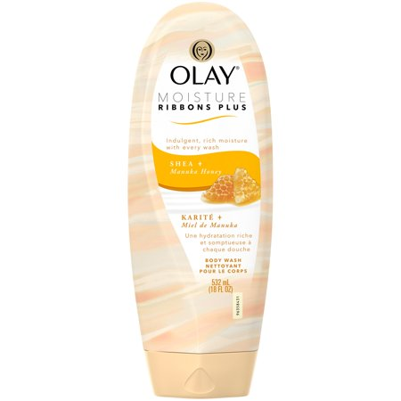 Olay Moisture Ribbons Plus Body Wash  Shea   Manuka Honey  18 Oz