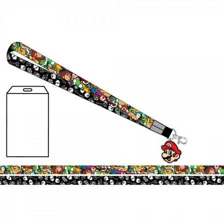 Lanyard - Nintendo - Super Mario Multi Character New Toys Licensed la3mg6smb - Super Mario Characters Fancy Dress