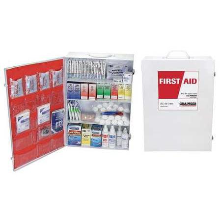 54574 First Aid Kit, Bulk, White, 1172Pcs, 150 Ppl