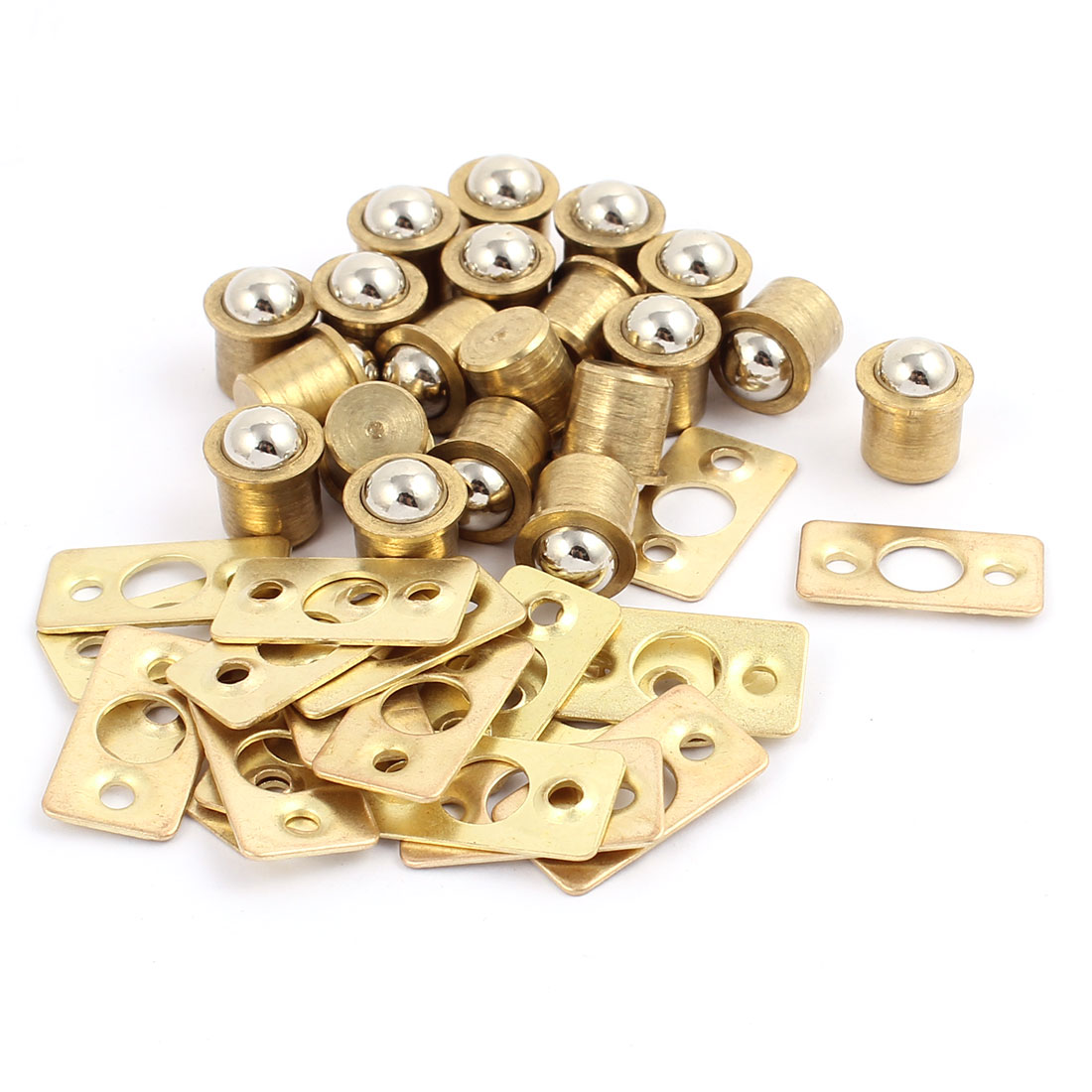 Door Cabinet Closet 9.5mm Dia Copper Ball Catch Latch Catcher 20 Sets