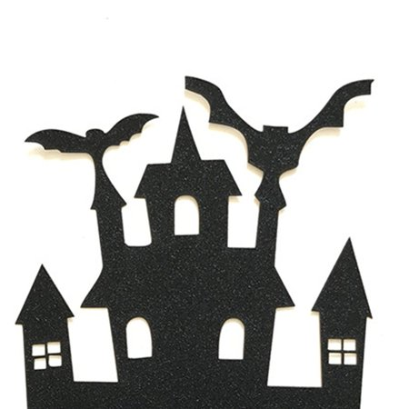 1pcs Halloween Castle Cake Topper Halloween Cupcakes Flag