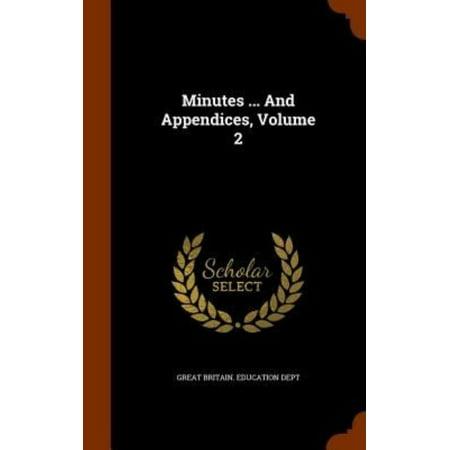 Minutes ... and Appendices, Volume 2 - image 1 de 1
