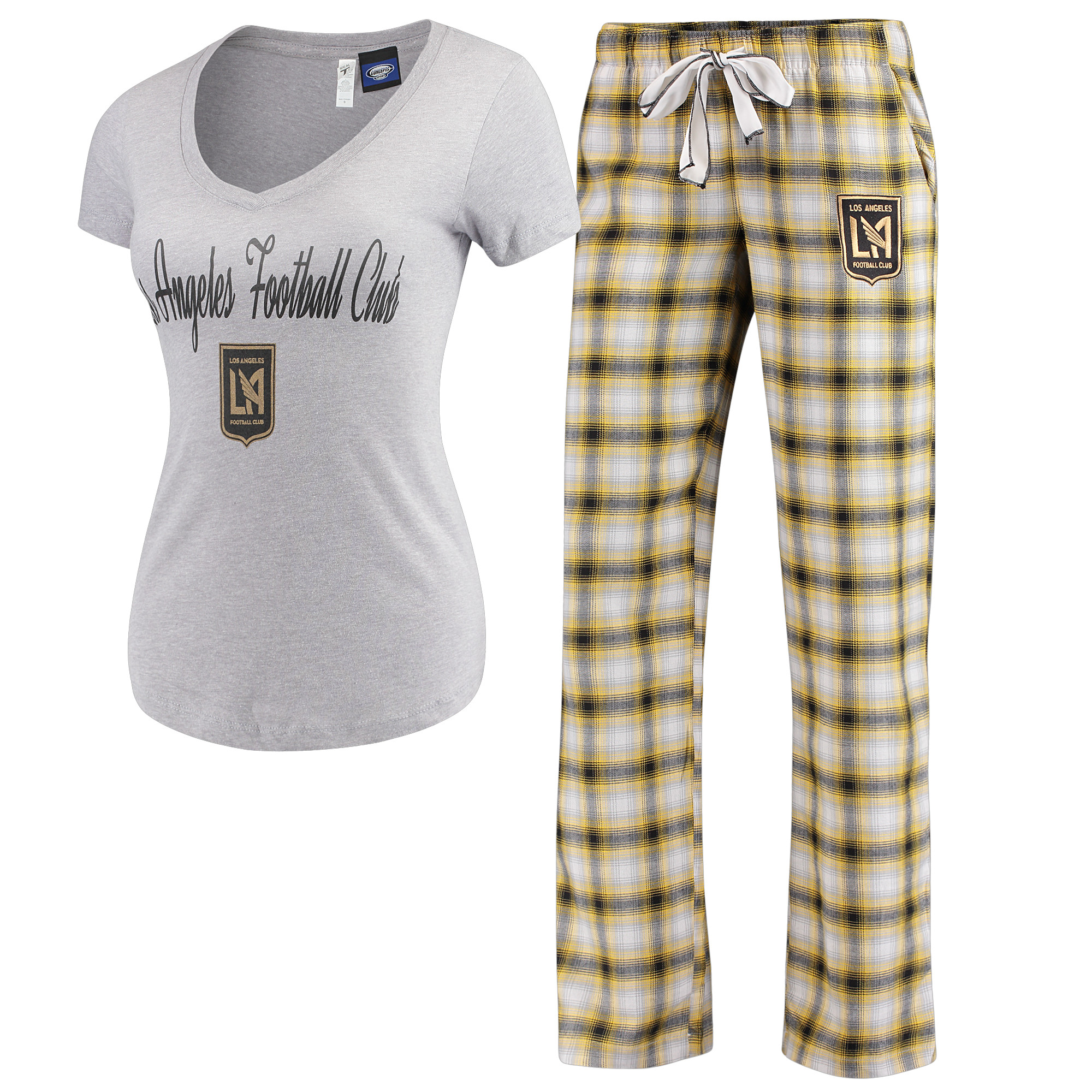 LAFC Concepts Sport Women's Forge Flannel Set - Black/Gold