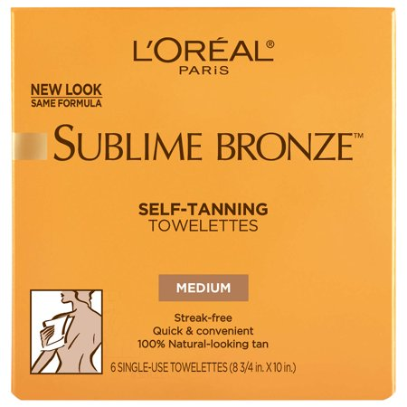 Body Electrical Wiper - L'Oreal Paris Sublime Bronze Self-Tanning Towelettes for Body