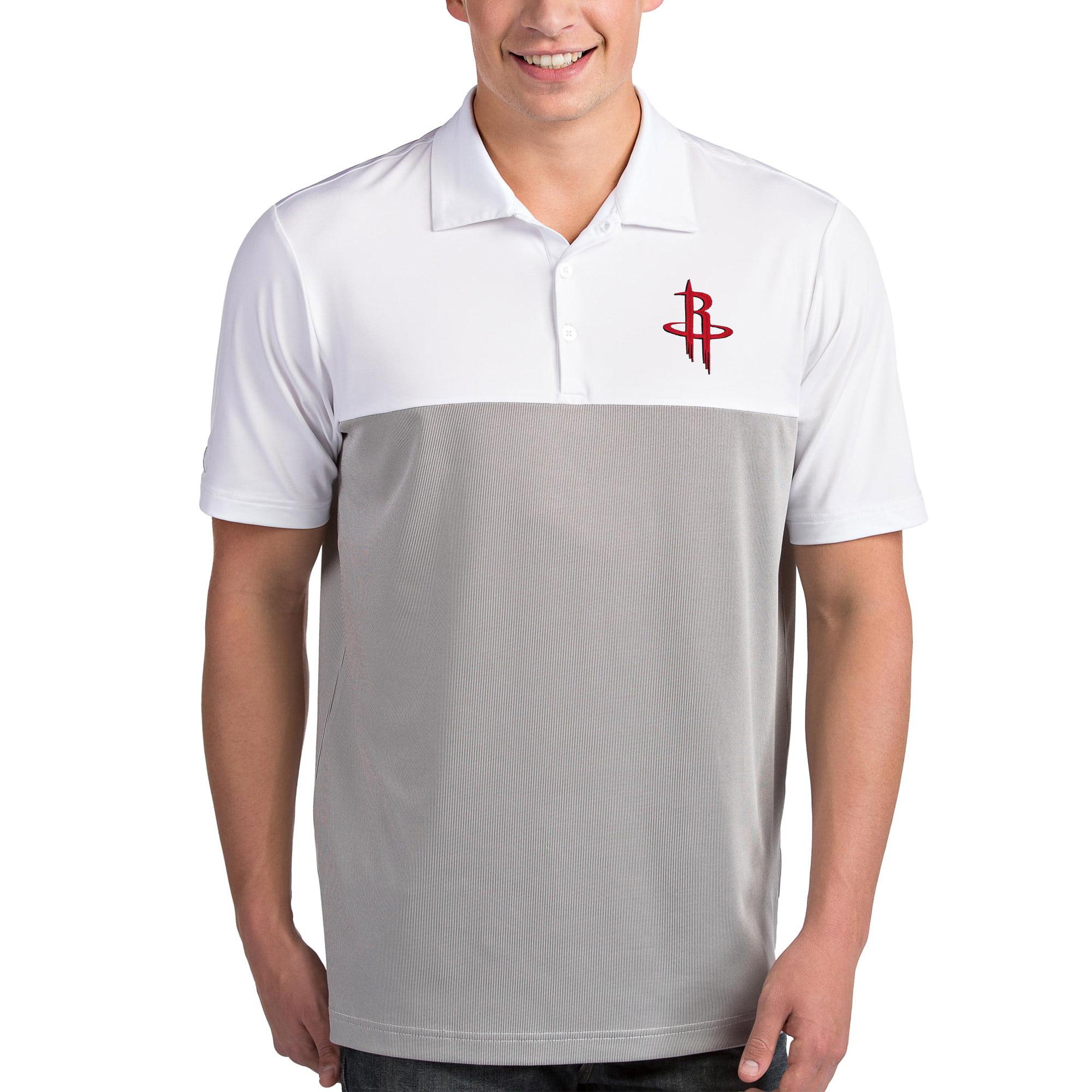 Houston Rockets Antigua Venture Polo - White/Gray