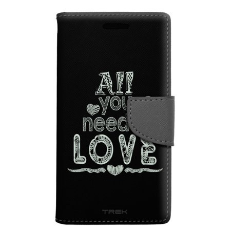 ZTE Zmax Grand Wallet Case - All You Need is Love Chalk