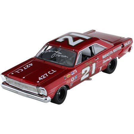 Lionel Racing Marvin Panch Augusta Auto Sales 1965 Ford Galaxie Diecast Car  1 24Th Scale  Autographed Hoto  Official Diecast Of The University Of Racing