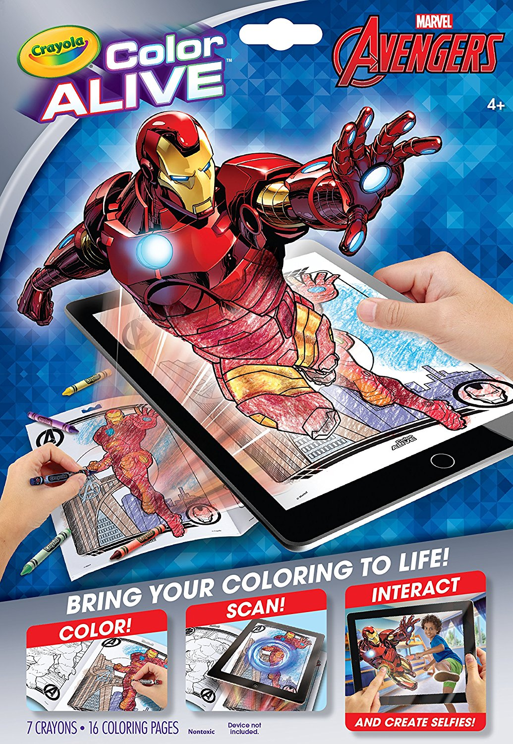 Crayola Avengers Color Alive Action Coloring Pages - Walmart.com