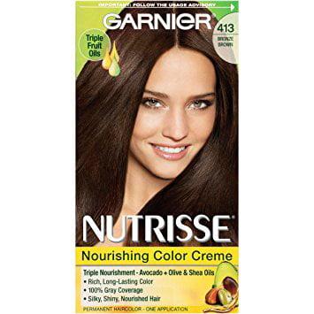 Garnier Nutrisse Permanent Haircolor Bronze Brown 413 1 0 Ea Pack Of 6