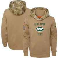 New York Jets Nike Youth 2019 Salute to Service Therma Pullover Hoodie - Khaki