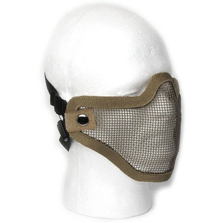 - ALEKO PBM209TN Protective Mask Mesh Wire Half Face Chin Mouth Coverage, Tan Color