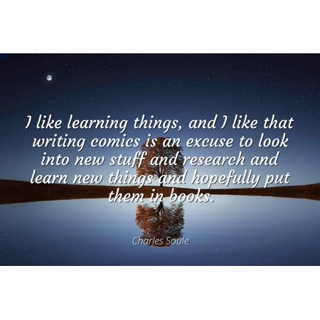 Charles Soule I Like Learning Things And I Like That Writing