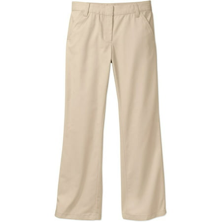 a7fb2e67bf9 George - Girls School Uniforms Flat Front Pants with Stain Resistant  Scotchguard Treatment - Walmart.com