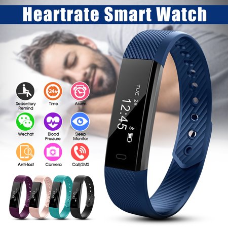 Waterproof OLED Screen Fitness Sports bluetooth Smart Watch Bracelet Band Sleep Heart Rate Monitor,Smart Alarm, Call and Message