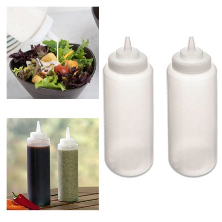 Ketchup Bottle Sizes (2 Pc Squeeze Bottles Ketchup Mustard BBQ Containers Dispenser Kitchen)