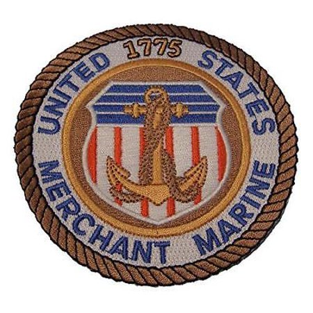 US MERCHANT MARINE PATCH NAVY AUXILIARY GOVERNMENT CIVILIAN VETERAN COMMERCE