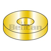 No.8 SAE Flat Washer, Yellow - Zinc - Box of 50