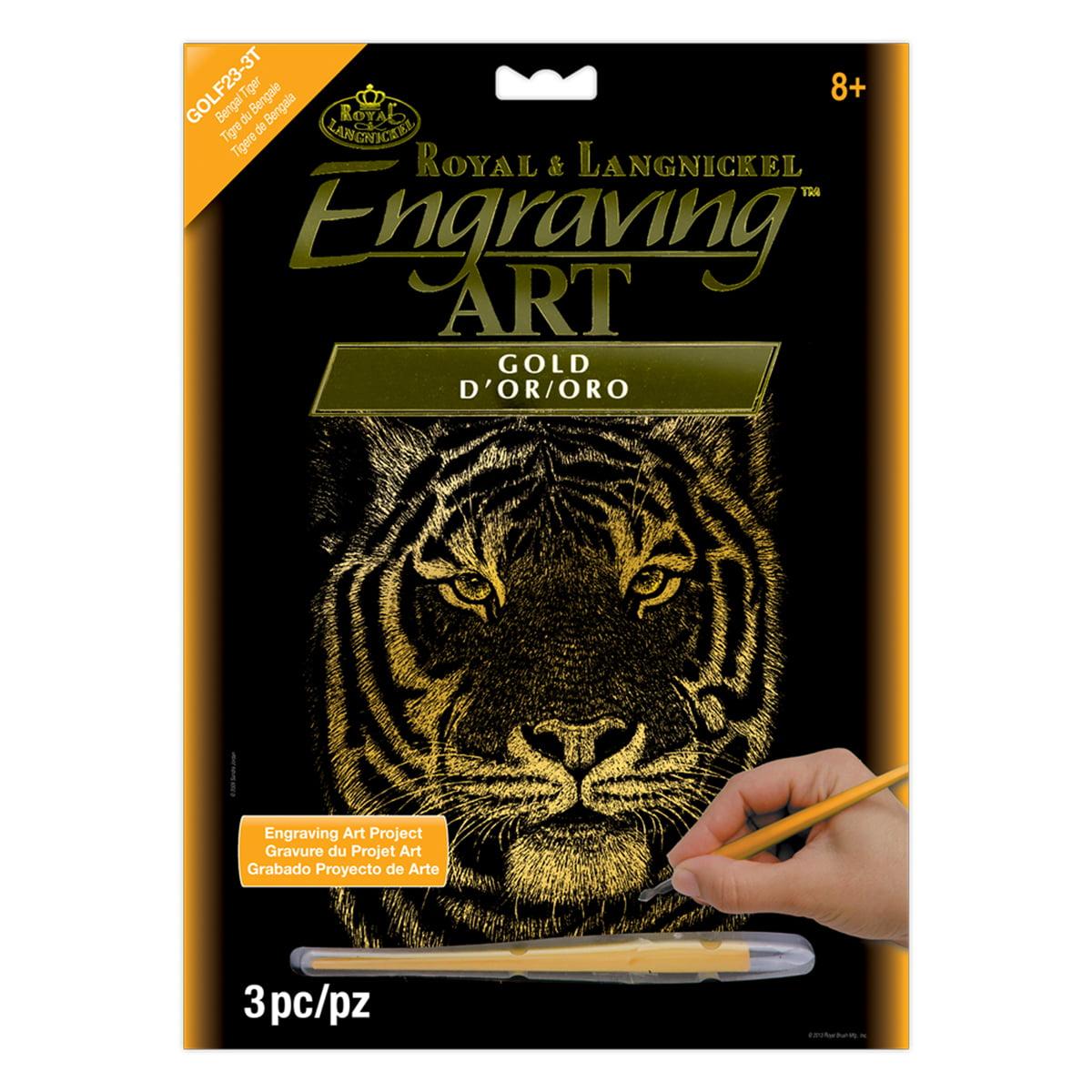 Royal & Langnickel Engraving Art™ Gold Foil, 'Bengal Tiger'